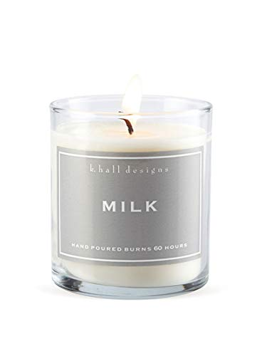 k hall designs Milk Scented Glass Tumbler Candle