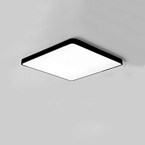 Simple Moderne Lampe de Plafond en Fer forgé, Ultra-Mince Salon Chambre rectangulaire Salon Salle à Manger plafonnier, LED (Color : Black, Taille : 40 * 40cm)