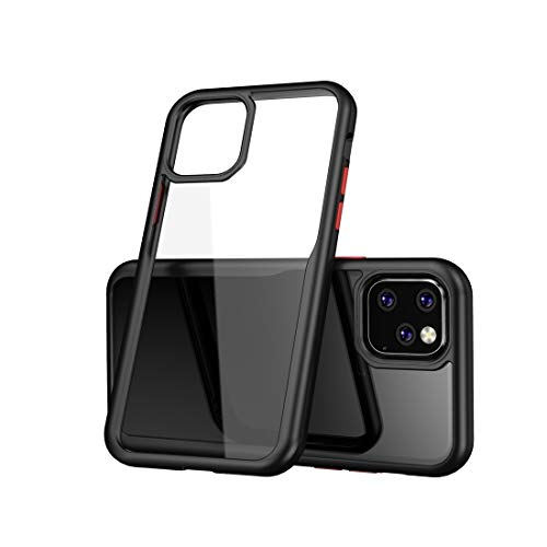 Conciso, Conveniente, Duradero For iPhone Pro 11 a Prueba de Golpes acrílico Cobertura Completa Funda Protectora (Negro), Simple y Compacto (Color : Black)