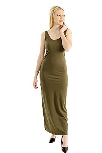 VERO MODA Damen VMNANNA SL Ancle Dress GA Color Lässiges Kleid, Ivy Green, S