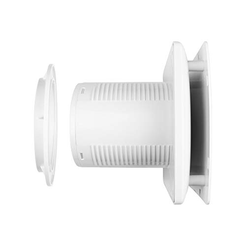 Badlüfter 100 mm Abluftventilator mit Feuchtigkeitssensor Timer und Rückstauklappe 100 m³/h 32 dB IPX4 3