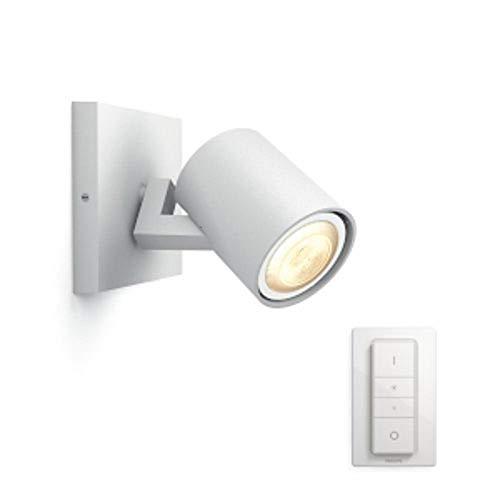 Philips Luminaire télécommandé Runner Spot Hue 2 têtes - Blanc (télécommande incluse)