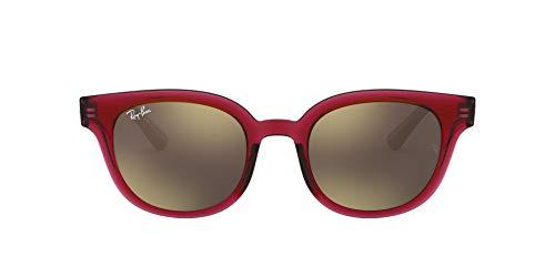 Ray-Ban RB4324 Gafas, Rojo Transparente, Rojo, 50 Unisex Adulto