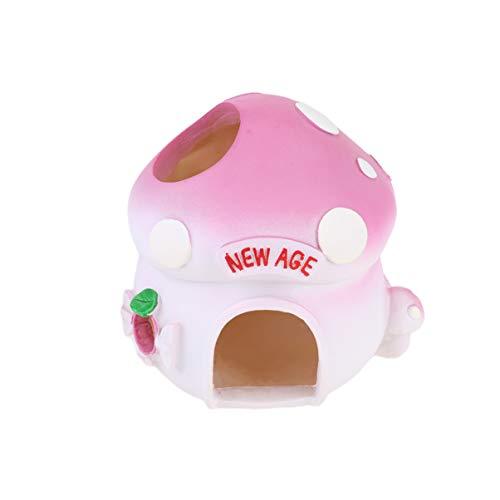 Balacoo kleines Tierhaus pilzförmig Keramik Fell Nest Pet Play Versteck für Hamster Eichhörnchen Chinchilla Meerschweinchen Ratte Mäuse
