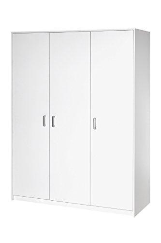 Schardt 06 493 02 00 Kleiderschrank mit 3 Türen, Classic White
