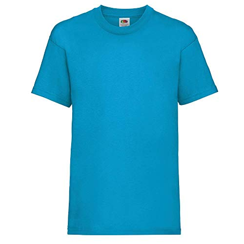 Fruit of the Loom - Kids Value Weight T Age 12-13,Azure Blue