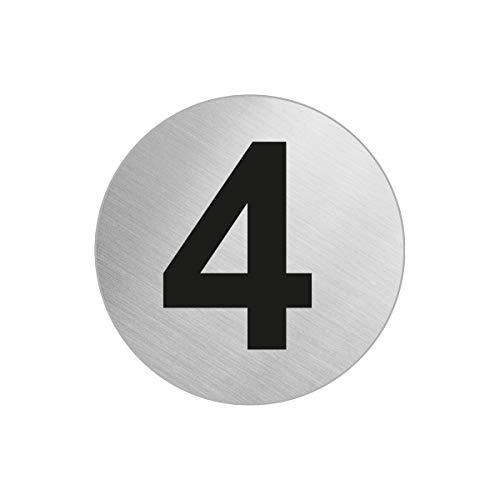 OFFORM Türnummer Zimmernummer aus Edelstahl 4