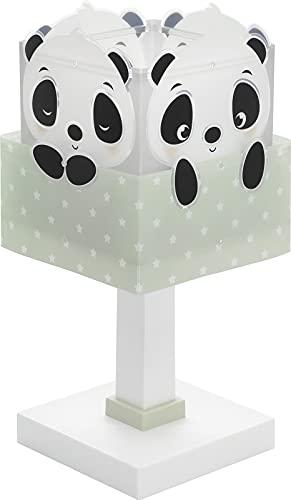 Dalber Lámpara Infantil De Mesa Panda Verde