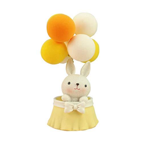 Elise Konijn Taart Topper Ballon Cupcake Topper Miniatuur Animal Figurine Ornament Micro Landschap Decor Valentijnsdag Verjaardag Baby douche Kerstmis Gift