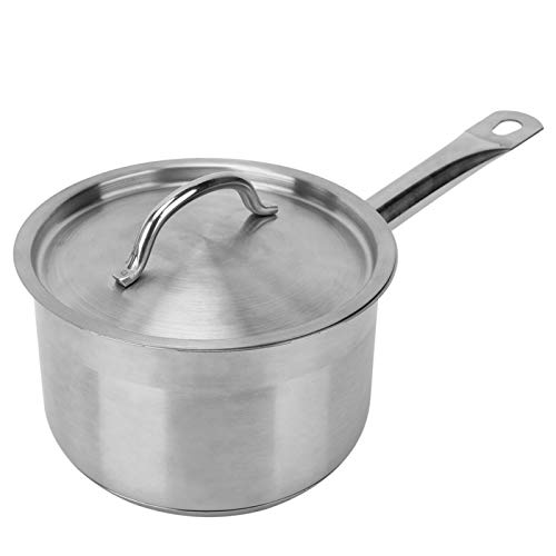Olla para cocinar SSA-1811B, Olla para sopa con fondo compuesto, Sartén para salsa de acero inoxidable, Olla para cocinar Cocina con cacerola de un solo mango