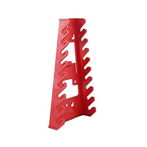 Schraubenschlüssel-Halter, 9 Schlitze, rot, Kunststoff, Standard-Organizer, Aufbewahrung von Werkzeug, Schraubenschlüsselhalter, einfache Montage an Wänden(ohne Schraubenschlüssel)