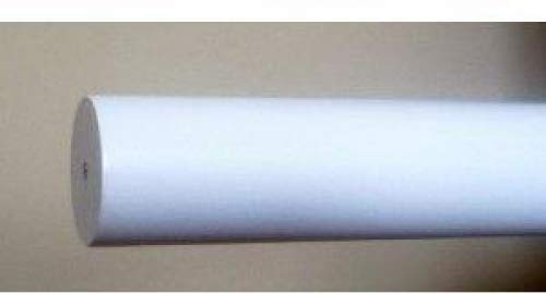 1-3/8 inch Wood Smooth Drapery Rod in White Finish - 6' long