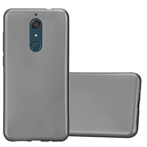Cadorabo Hülle für WIKO View XL in METALLIC GRAU - Handyhülle aus flexiblem TPU Silikon - Silikonhülle Schutzhülle Ultra Slim Soft Back Cover Hülle Bumper