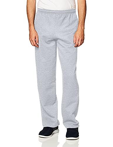 Gildan Men's Fleece Open Bottom Sweatpants with Pockets, Style G18300,...
