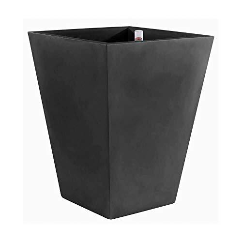 Vondom kegel vierkant hoog vaas 35 x 35 h 100 cm zwart
