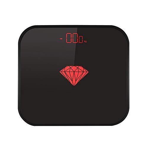 Elektronische Waagen für das Haushaltsgewicht - Elektronische Waagen mit LED-Anzeige - Körperfettwaage für gesunde Gewichtsabnahme bei Erwachsenen - Elektronische Waage mit niedrigem Verbrauch-blac