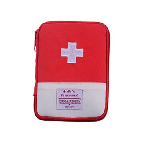 Sarplle Portable First Aid Bag Small First Aid Kit pour la randonnée, Le Camping, Le VTT, Les Accessoires de Voyage et de Plein air 18 * 13 cm