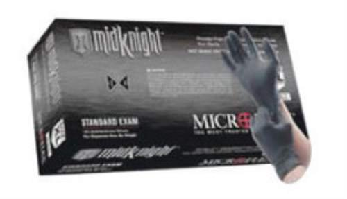 Microflex XLg Black 9.6' MidKnight 4.7 mil Nitrile Gloves. (3 Boxes)