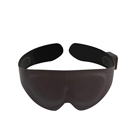 LTLGHY Beheizte Augenmaske, PU Schlafmasken Mit Flexiblem Gummiband Mit Infrarotheizung Für Die Sichtpflege Müdigkeit Entlasten Augenringe Entfernen Damen Herren