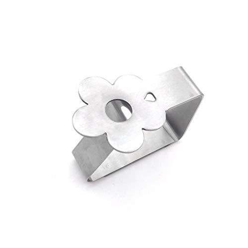 suoryisrty 4Pieces Flower Moon Edelstahl Home Tischdecke Tischdecke Clip Clamps Halter - B # Silber