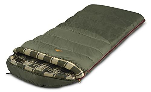 ALEXIKA Unisex-Adult Tundra Plus XL Deckenschlafsack, grau/grün