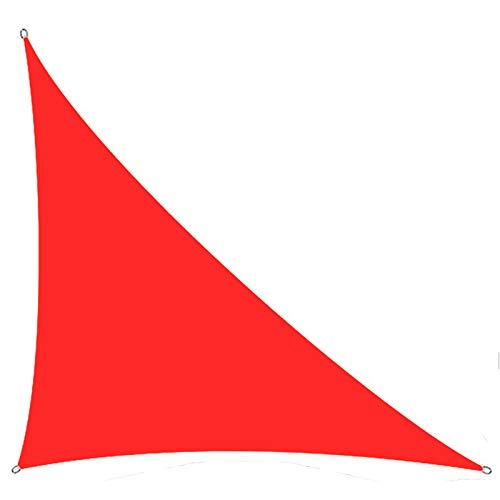 Shade Sail, Rojo Duradero y toldo de Bloqueo UV, Adecuado para jardín al Aire Libre del Patio,4 * 4 * 5.7M