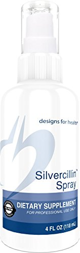 Designs for Health Purified Silver Spray - Silvercillin Spray, 15ppm Silver for Immune Support (24 Servings / 4oz)