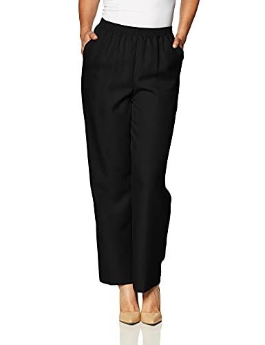Alfred Dunner Women's Medium Pant,Black,14