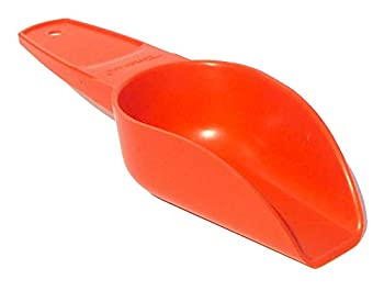Vintage Tupperware Small Canister Scoop with Handle Retro Orange