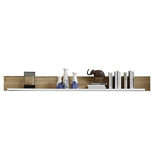 Fun Plus Wandboard in Holz-Optik Eiche-Dekor - hochwertiges & vielseitig einsetzbares Wandregal - 180 x 18 x 22 cm (B/H/T)