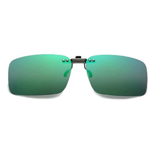 DAUCO Clips de Gafas de Sol Sin marco Rectángulo Clip en Gafas de Sol Ligero Peso Polarizadas Anteojos Hombre Mujer