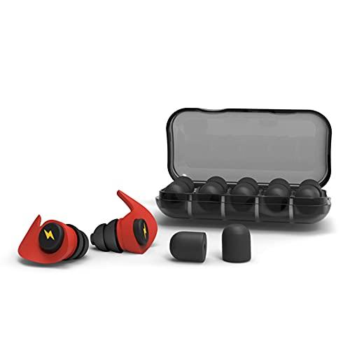 Olymajy 12 stuks oordopjes voor gehoorbescherming, van herbruikbare silicone, waterdicht, zacht, gehoorbescherming voor het slapen van vliegtuigen, oordopjes met draagbare doos