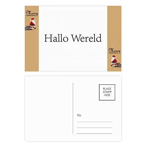 Hallo Wereld Nederlandse Kerstman Gift Ansichtkaart Thanks Card Mailing 20 stks