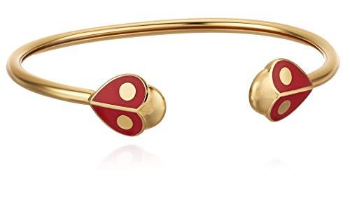 Kate Spade New York Animal Party Ladybug Flex Cuff Bracelet Red One Size