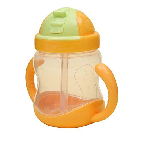 Beaums 280ml bebé taza de la botella niños PP Sippy la formación de niños Copas bebé linda que bebe manejar el agua de paja Biberón
