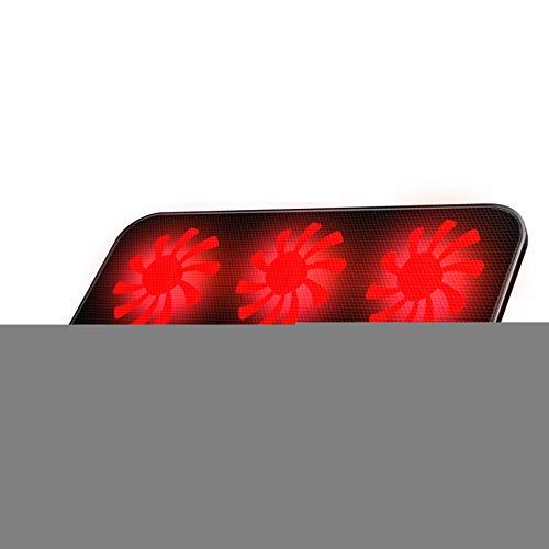 Xbd Refrigerador portátil,Ventilador para portatil,Base de Refrigeración para Ordenador Portátil,con 6 Ventiladores,Altura y Velocidad Regulables,Apto para portátiles Gaming de 12-17 Pulgadas