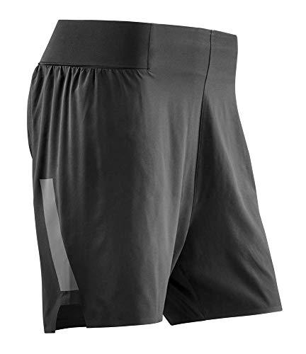 CEP – RUN LOOSE FIT SHORTS für Herren   Kurze Sporthose für maximale Bewegungsfeiheit in schwarz   Größe M