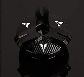 MUJUN Reserve Motorrad CNC Motoröldeckel Bolzen Schraube Einfüllabdeckung Fits for Yamaha MT01 MT03 MT07 MT25 MT03 MT07 MT25 MT01 MT10 MT10 (Color : Black)