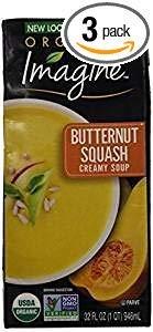 Imagine Organic Butternut Squash Creamy Soup Gluten Free 32 Oz. Pk Of 3.