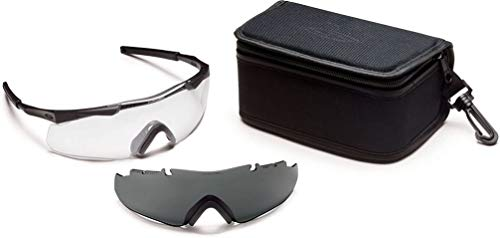 Smith Optics Elite Tactical Schneebrille mit Wechselscheibe, Unisex, Aegis Arc Compact, schwarz, Nicht zutreffend