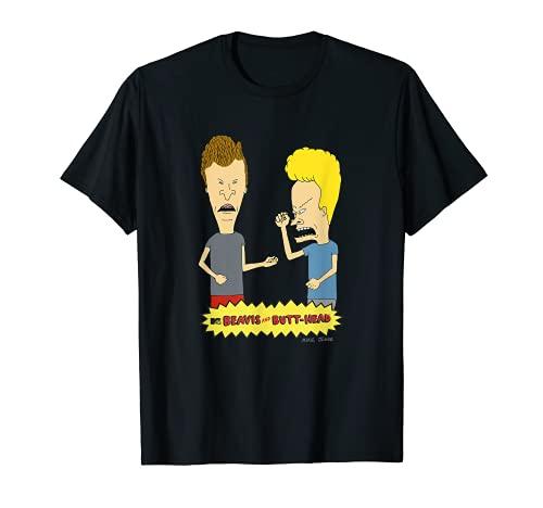 Beavis And Butthead Fist Pump Distressed Portrait T-Shirt