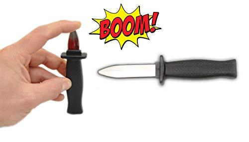 jameitop® 2 X Trickmesser die Klinge verschwindet - Theatermesser Show / Bühne Spielzeug Zaubertrick Fake Messer