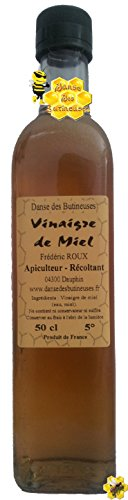 Bouteille de Vinaigre de Miel 50 cl / DIRECT PRODUCTEUR / Produit de France