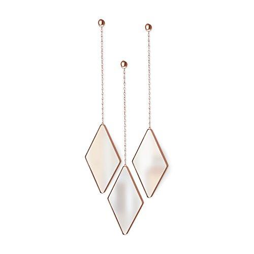 Umbra Dima - Espejos Suspendidos en Forma de Diamante