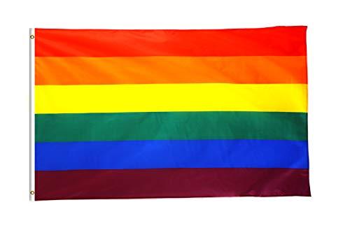 Star Cluster 90 x 150 cm (LGBT) Regenbogen Flagge/Regenbogen Fahne/Rainbow Flag/Gay Fahne/Gay Flagge/Gay Flag (LGBT)