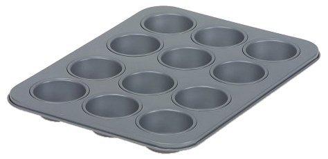 Swift Faringdon Collection Bakers Pride Plaque à mini muffins Anti-adhésif 12 moules 4 cm x 1,75 cm Acier carbone 24,5 cm x 18,5 cm x 2 cm