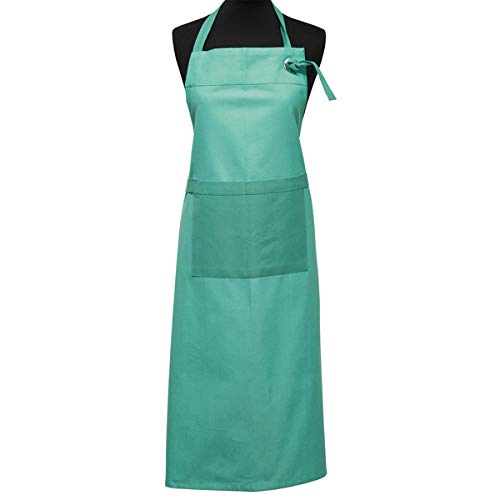 Scantex Schürze grün Petrol Baumwolle Verstellbarer Bügel 90x90 cm