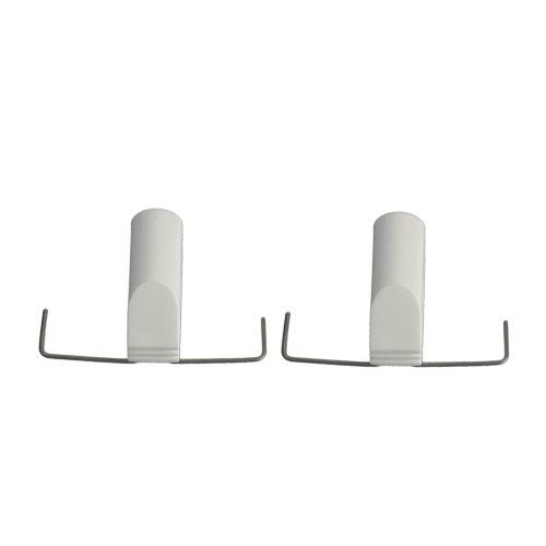Liedeco Klemmträger für Cafehausstangen 12 mm | Klemmbügel | Montage ohne Bohren | weiß | 2 Stück