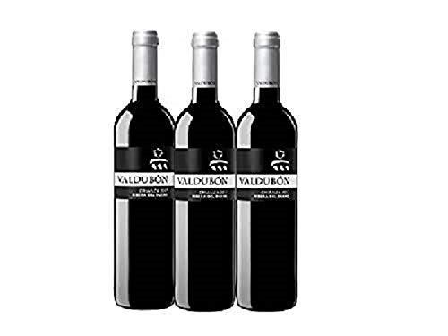 Valdubón Crianza - Vino Tinto Ribera del Duero -750 ml - Pack de 3 botellas - 2250 ml