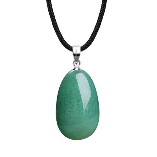 sararui Collares Mujer Tear Tangling Jade Naturales del Collar del Ojo Colgante Gota 16 '' / 18 '' Presente del día de San Valentín Collares Colgantes